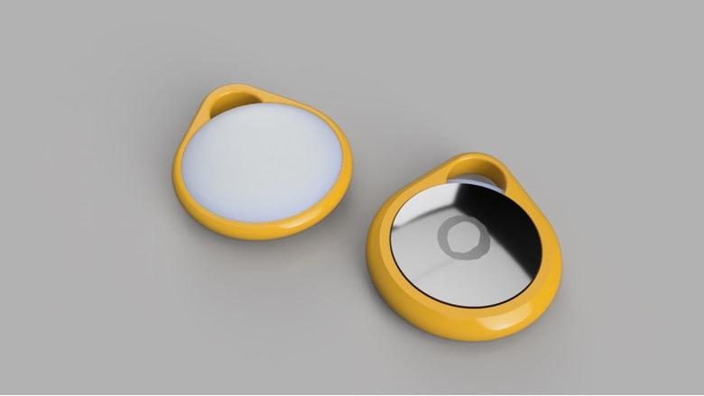 3D printed AirTag key ring holder