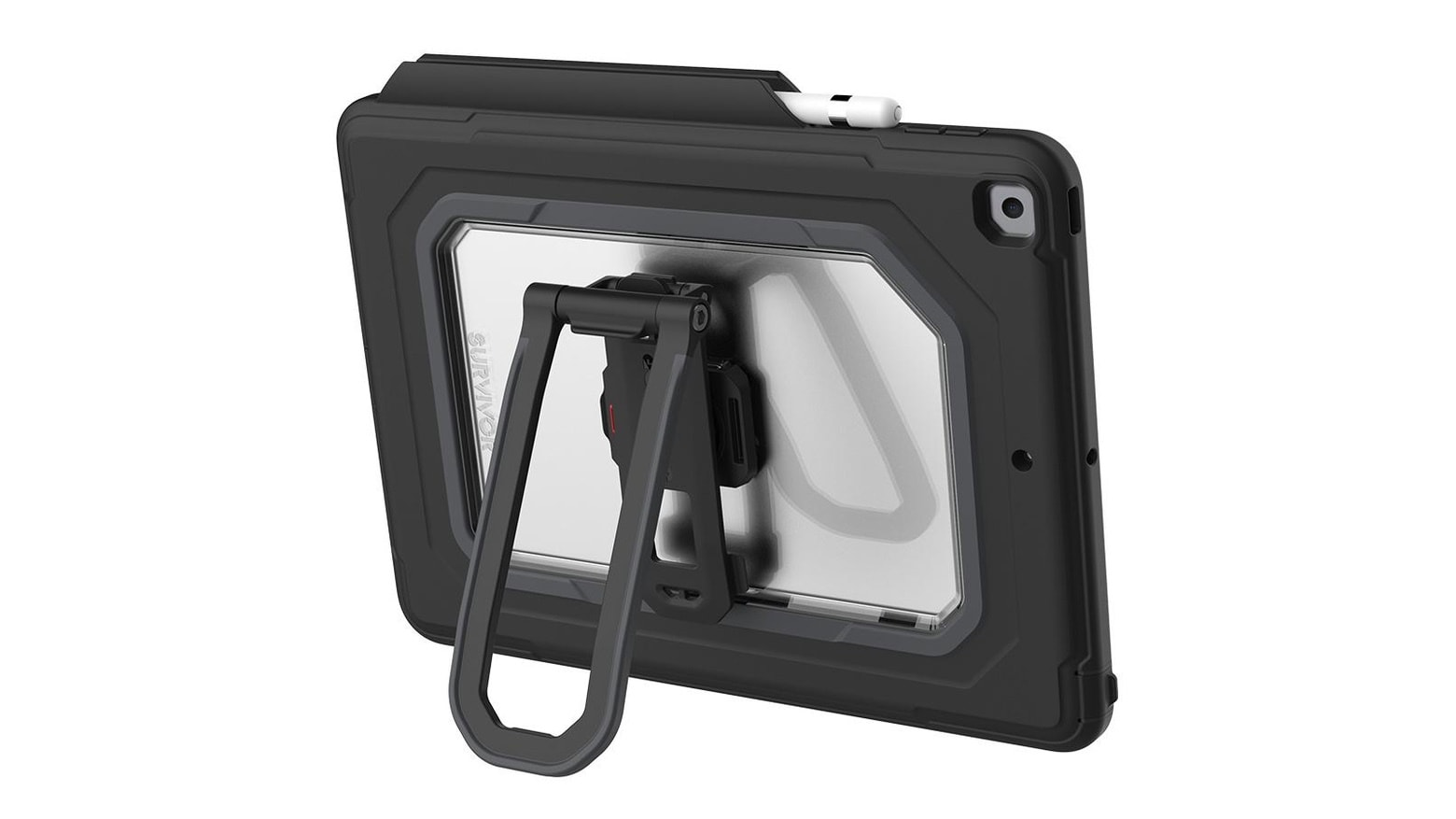 Survivor's new rugged 10.2-inch iPad cases combine kickstand with handstrap