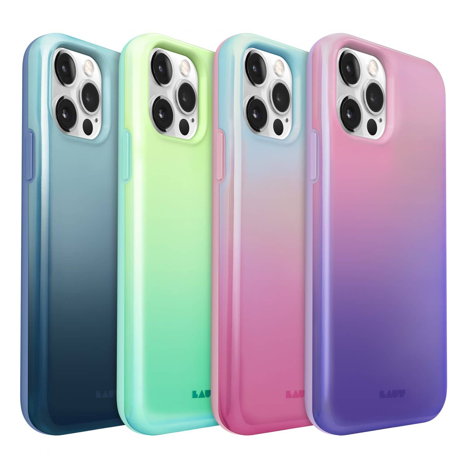 The Huex Fades case for iPhone 12 comes in a variety of iridescent finishes.