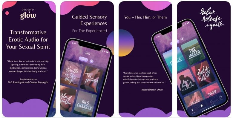 Guided by Glow audio erotica app: Ladies, get ready for some steamy sounds.