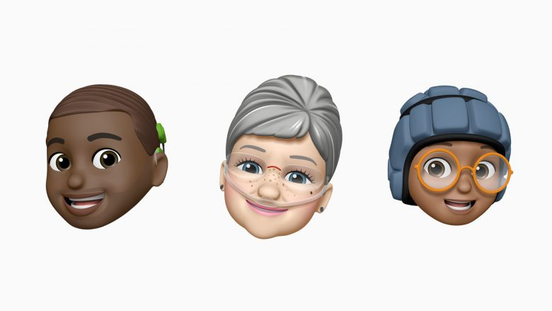 New Memojis will depict people with cochlear implants, supplemental oxygen and protective helmets.