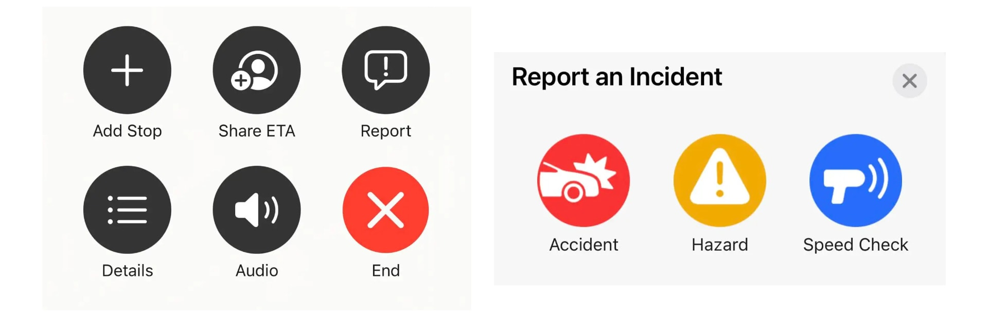 report incidents in Apple Maps