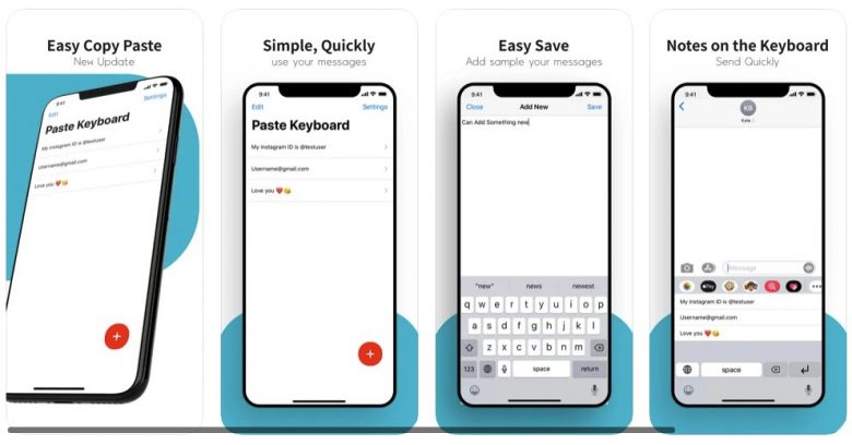 With the Paste Keyboard app, what you see is what you get