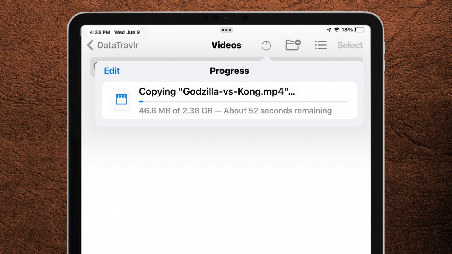 iPadOS 15 Files app gets progress bar, NTFS support, more