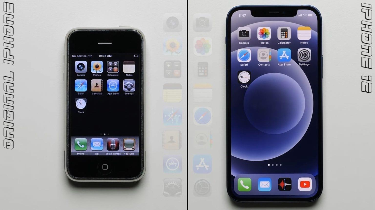 Original iPhone was a complete slug compared to iPhone 12