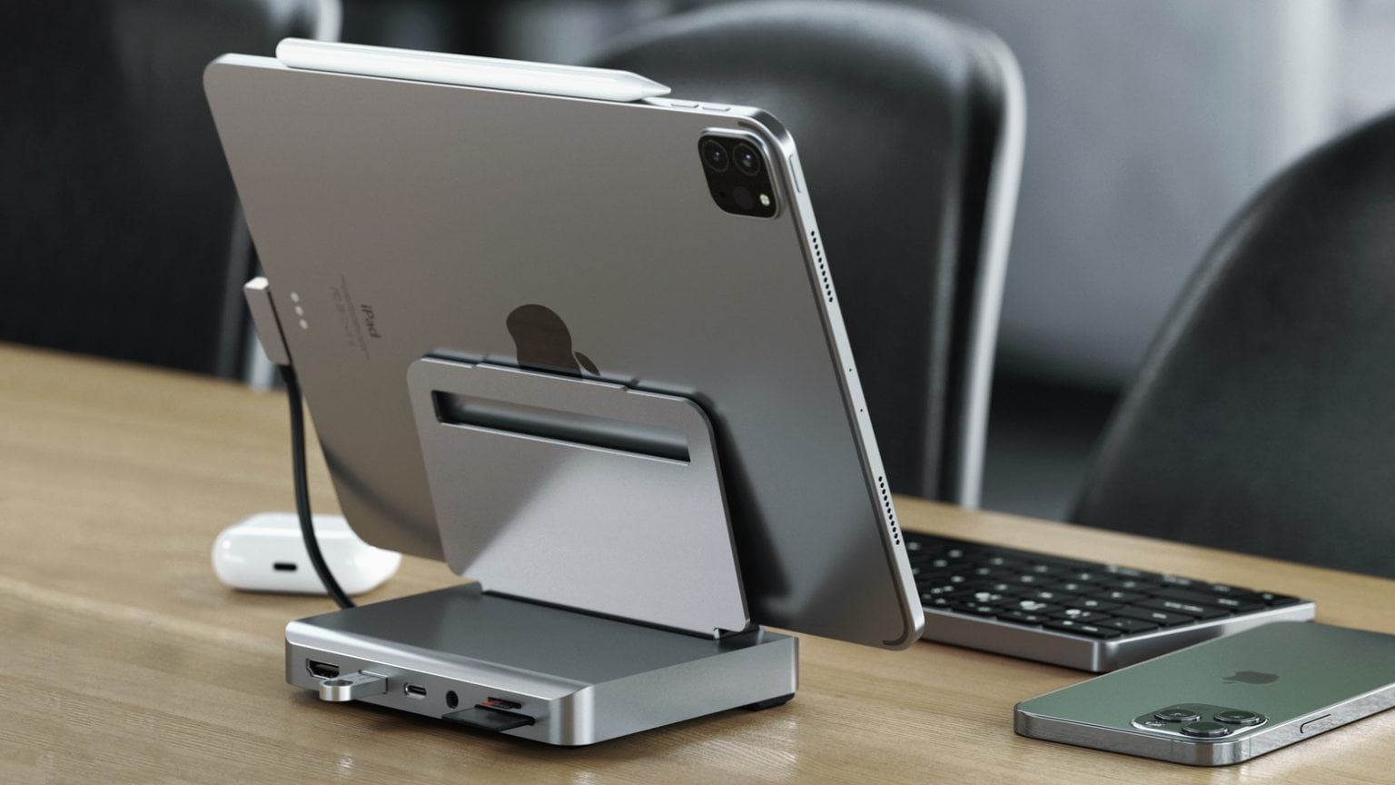 Satechi mixes iPad Pro foldable stand with 6-port hub