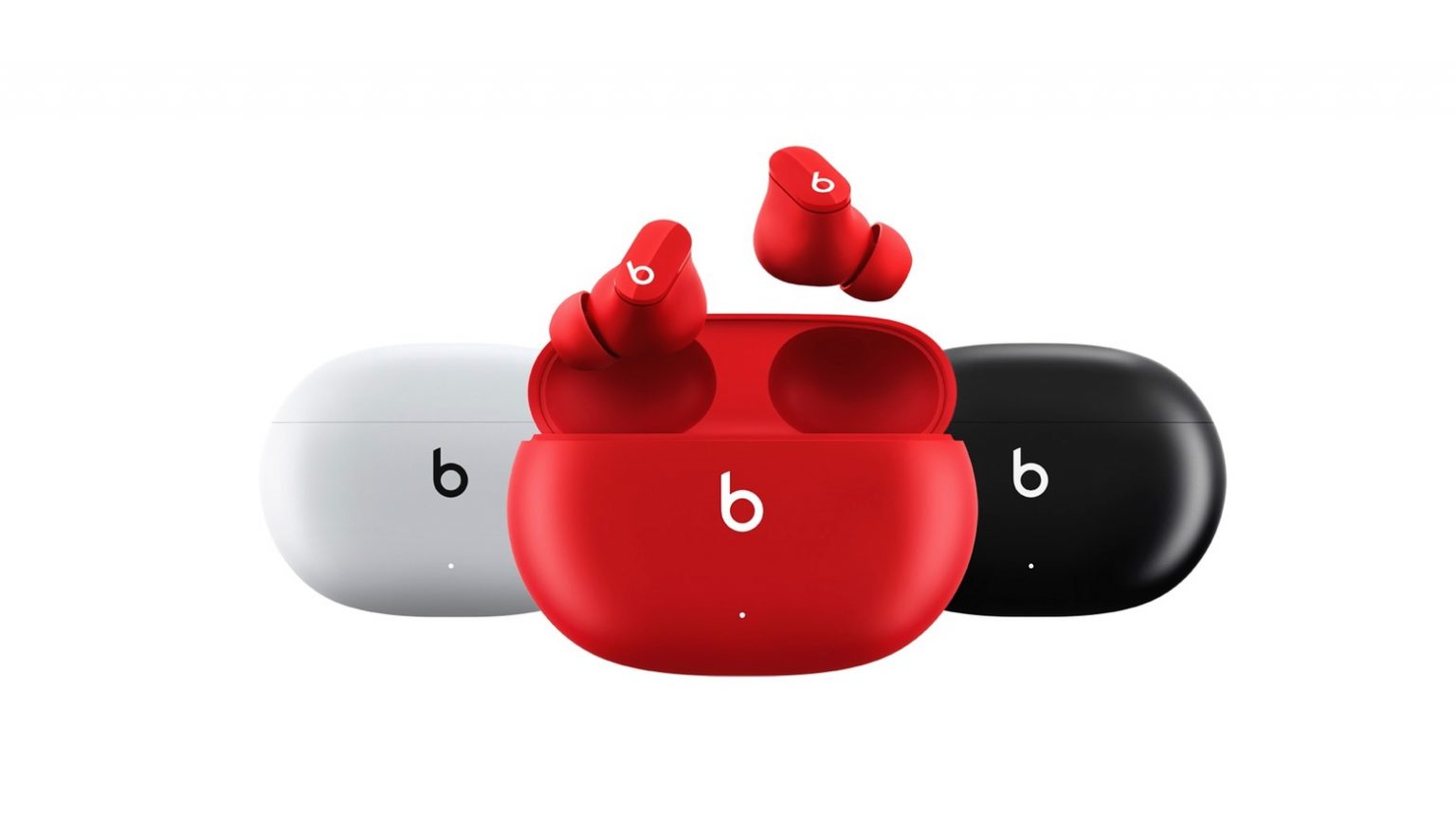 Beats Studio Buds come in white, red and black.