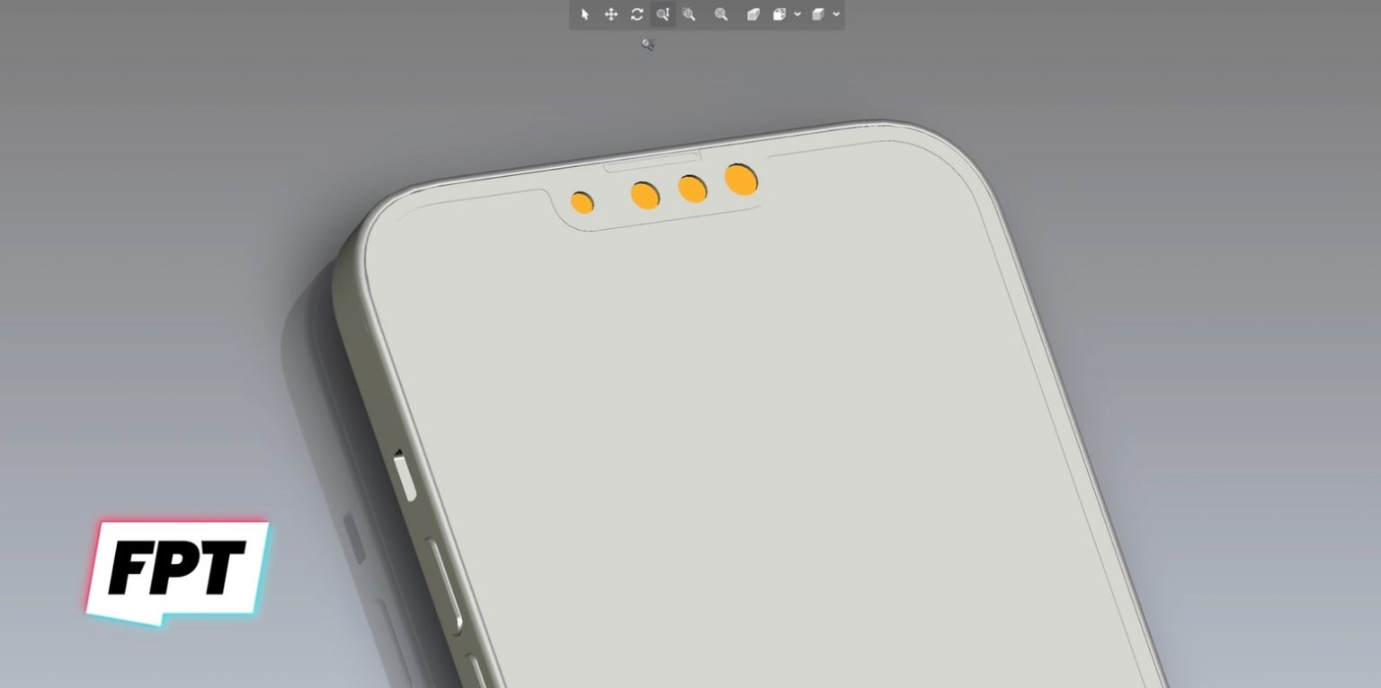 This is a CAD drawing supposedly showing the iPhone 13 notch