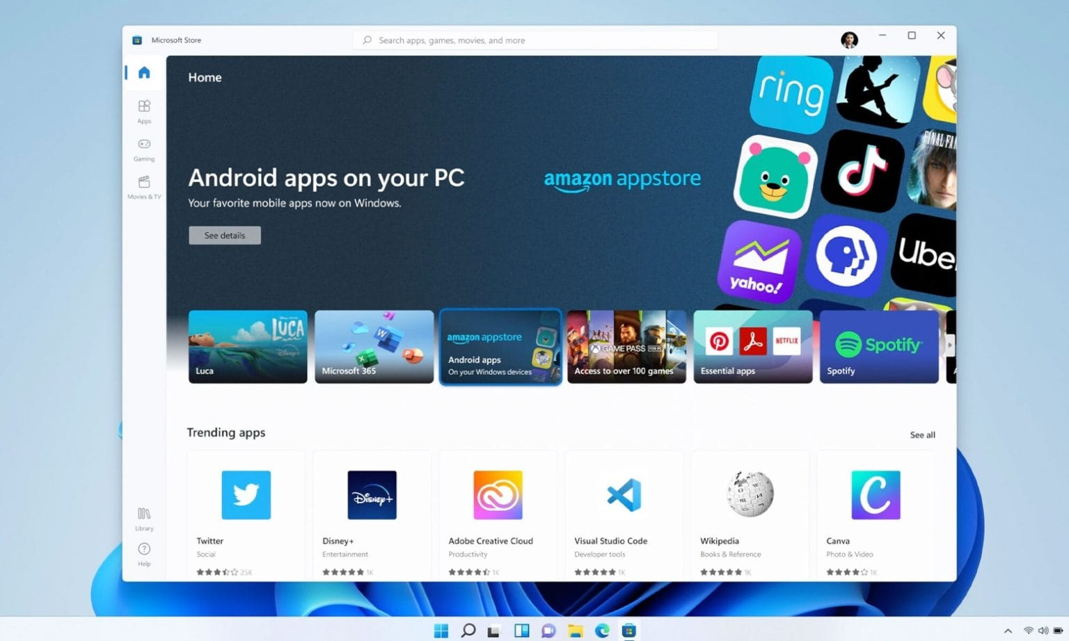 Microsoft copies Apple, puts Android apps on Windows 11