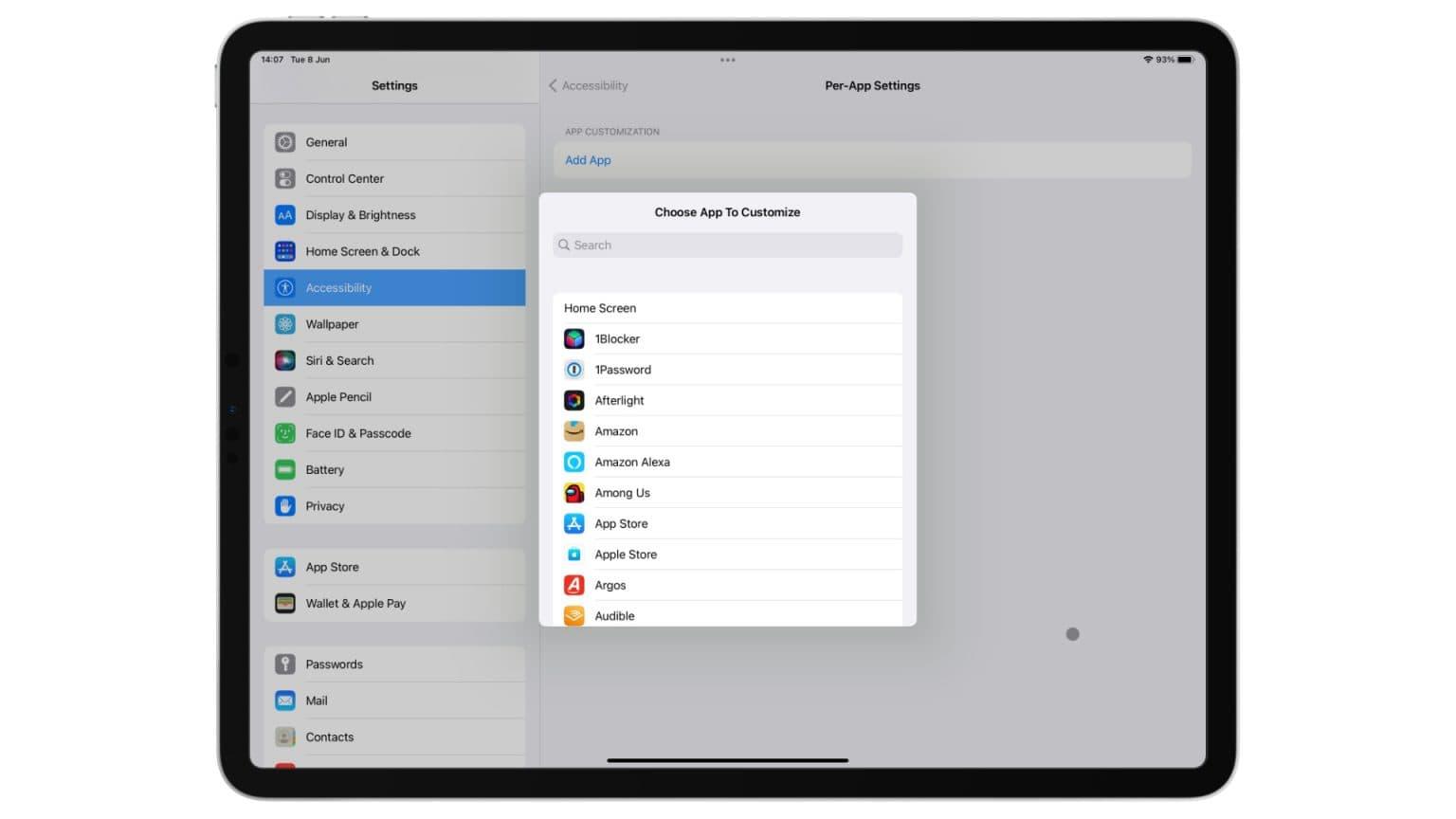 iOS and iPadOS 15 accessibility settings