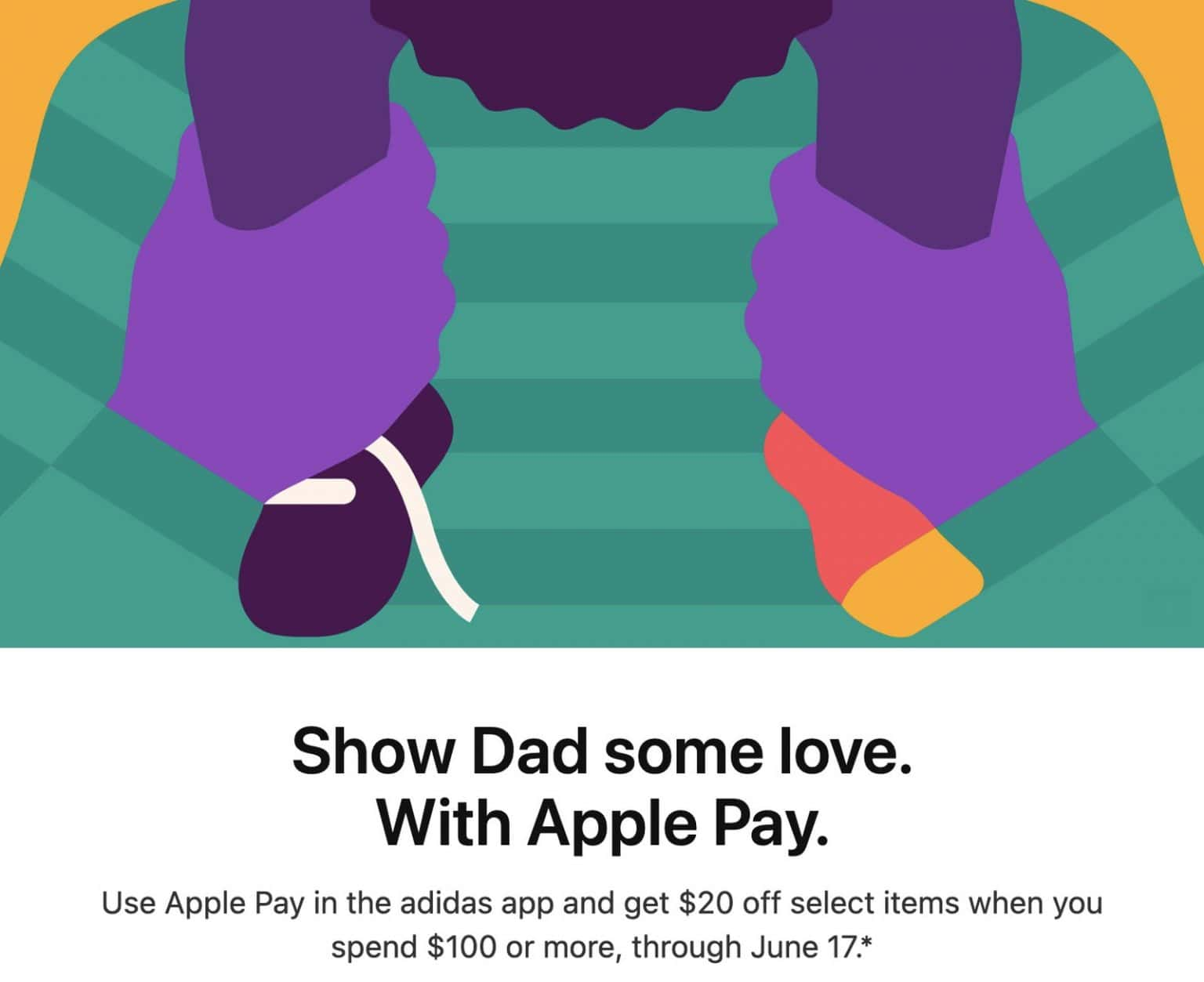 Apple Pay promo with Adidas