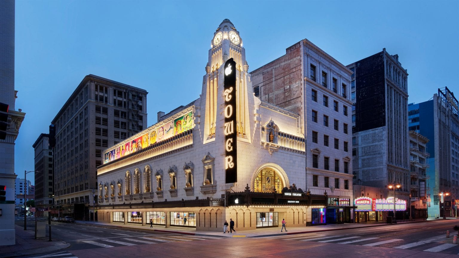 Many Angelenos on the hunt for Apple gear will recognize the historic theater's restored clocktower and sign. But the interior will blow them away.