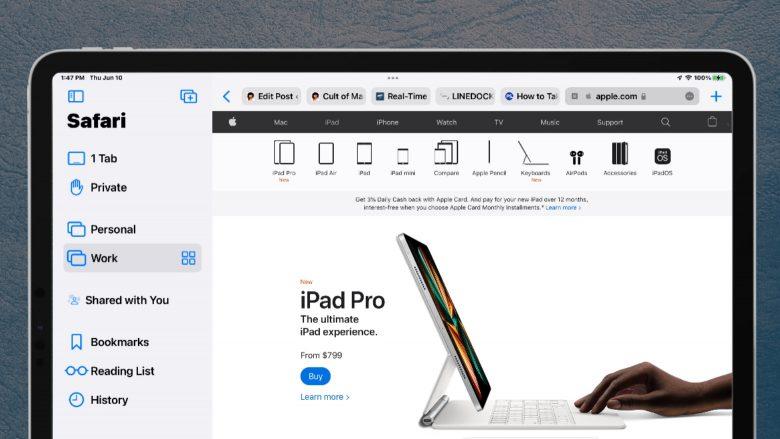 iPadOS 15 brings in Safari Tab Groups.