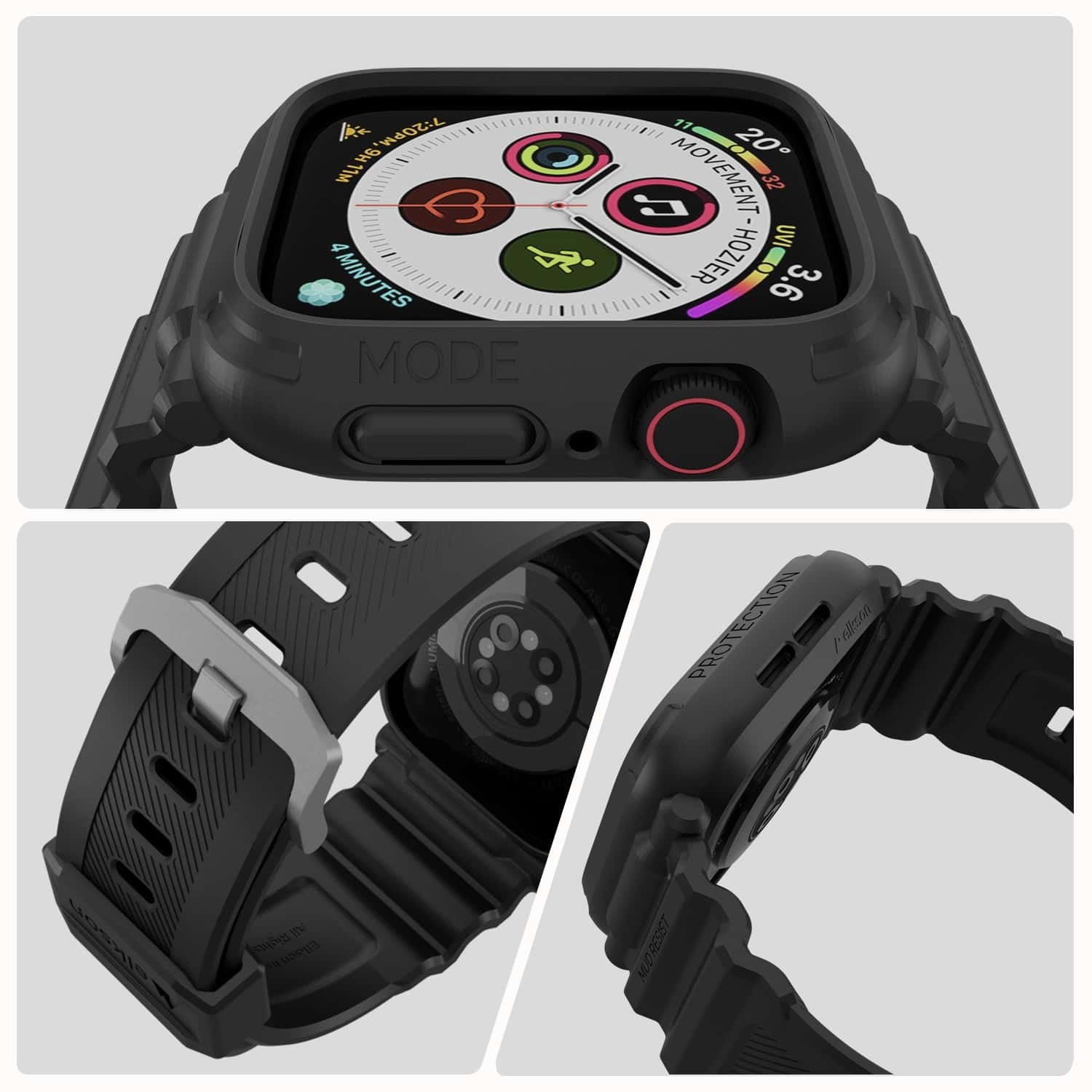 The Elkson Quattro Pro bumper case with band is an inexpensive way to protect your Apple Watch