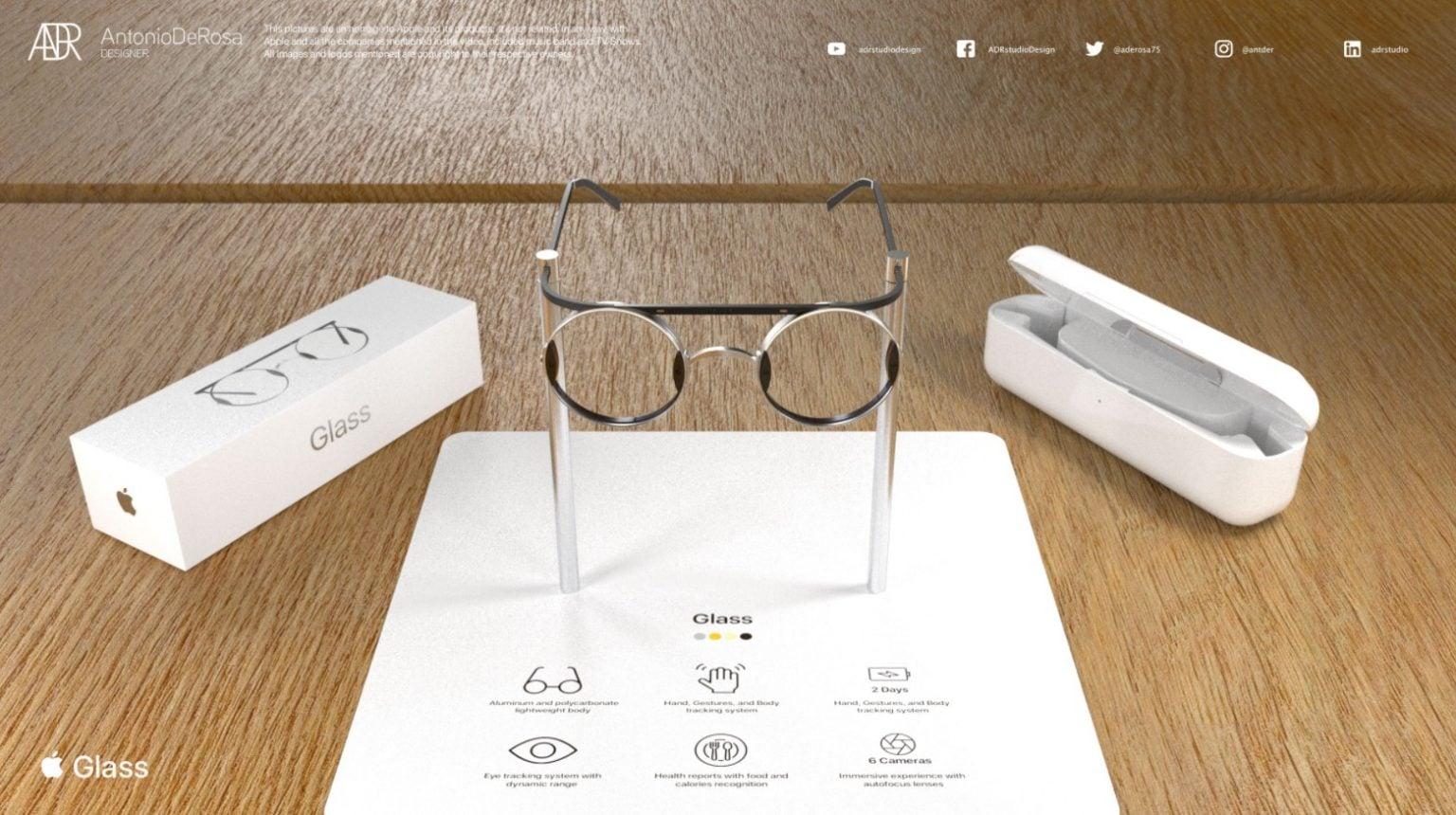 Designer Antonio De Rosa's concept for Apple Glass is complete.