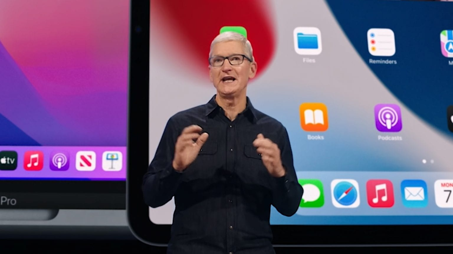 Tim Cook at WWDC 2021
