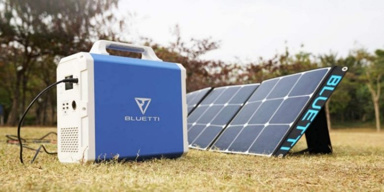 A Bluetti EB150 and a solar panel will keep you powered up anywhere.