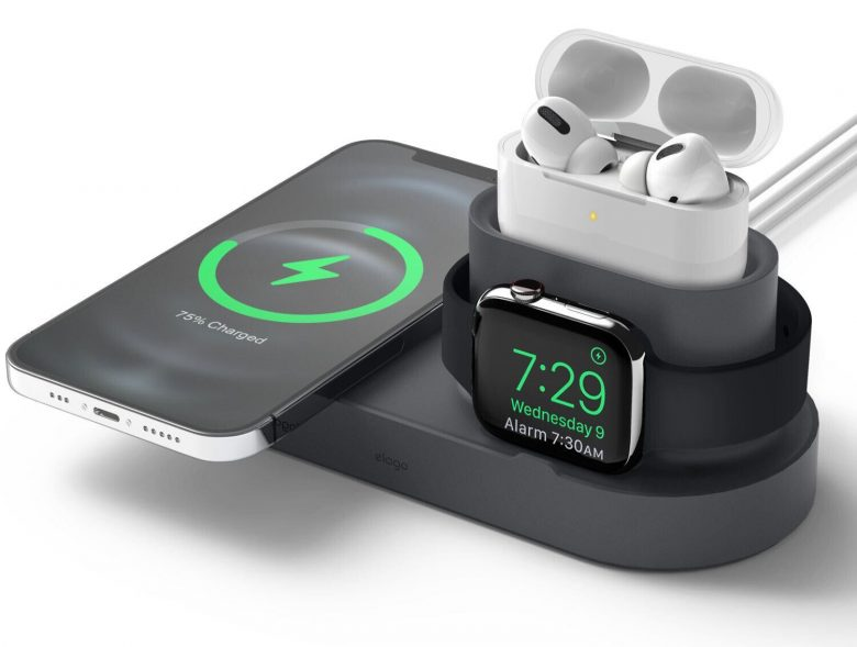 Elago MS MagSafe Charging Hub Trio 1: One convenient spot to charge your iPhone, AirPods and Apple Watch.