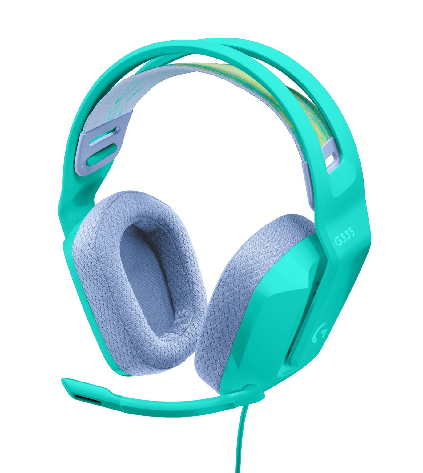 The new Logitech G 335 Wired Gaming Headset comes in mint (pictured), black or white.