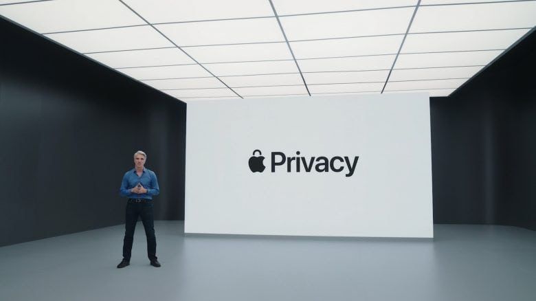 Craig Federighi reiterated Apple's commitment to privacy at WWDC 2021