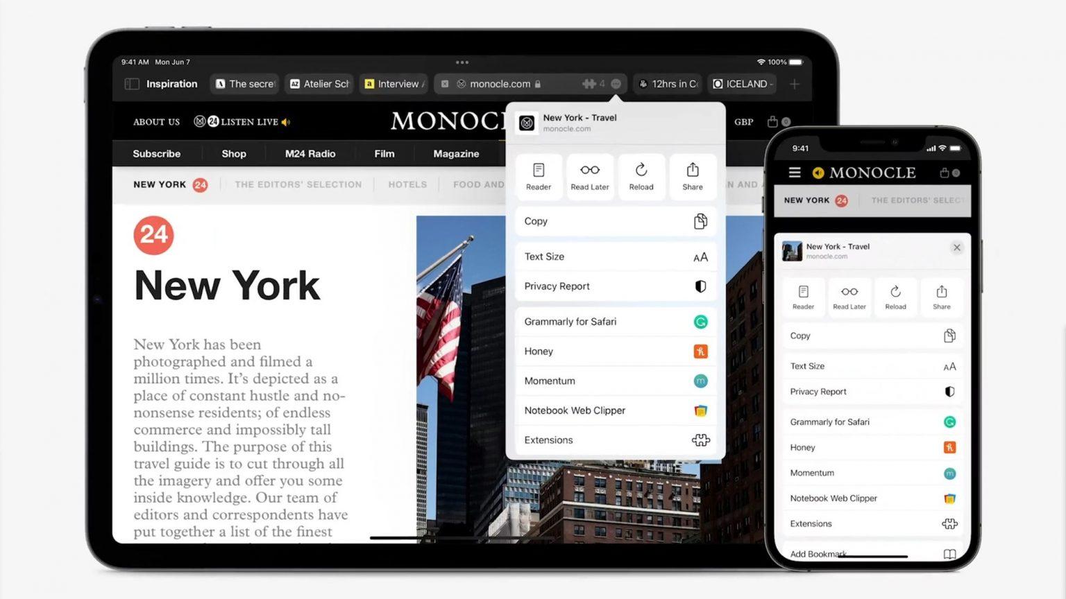 Safari on iPhone and iPad