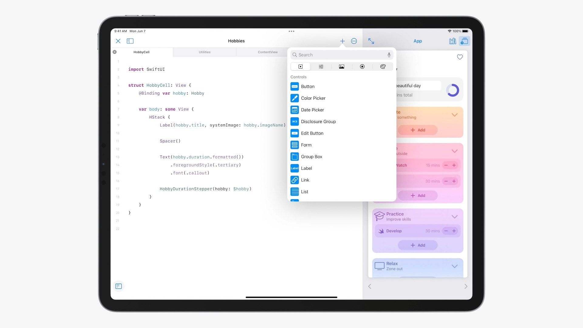 Swift Playgrounds in iPadOS 15