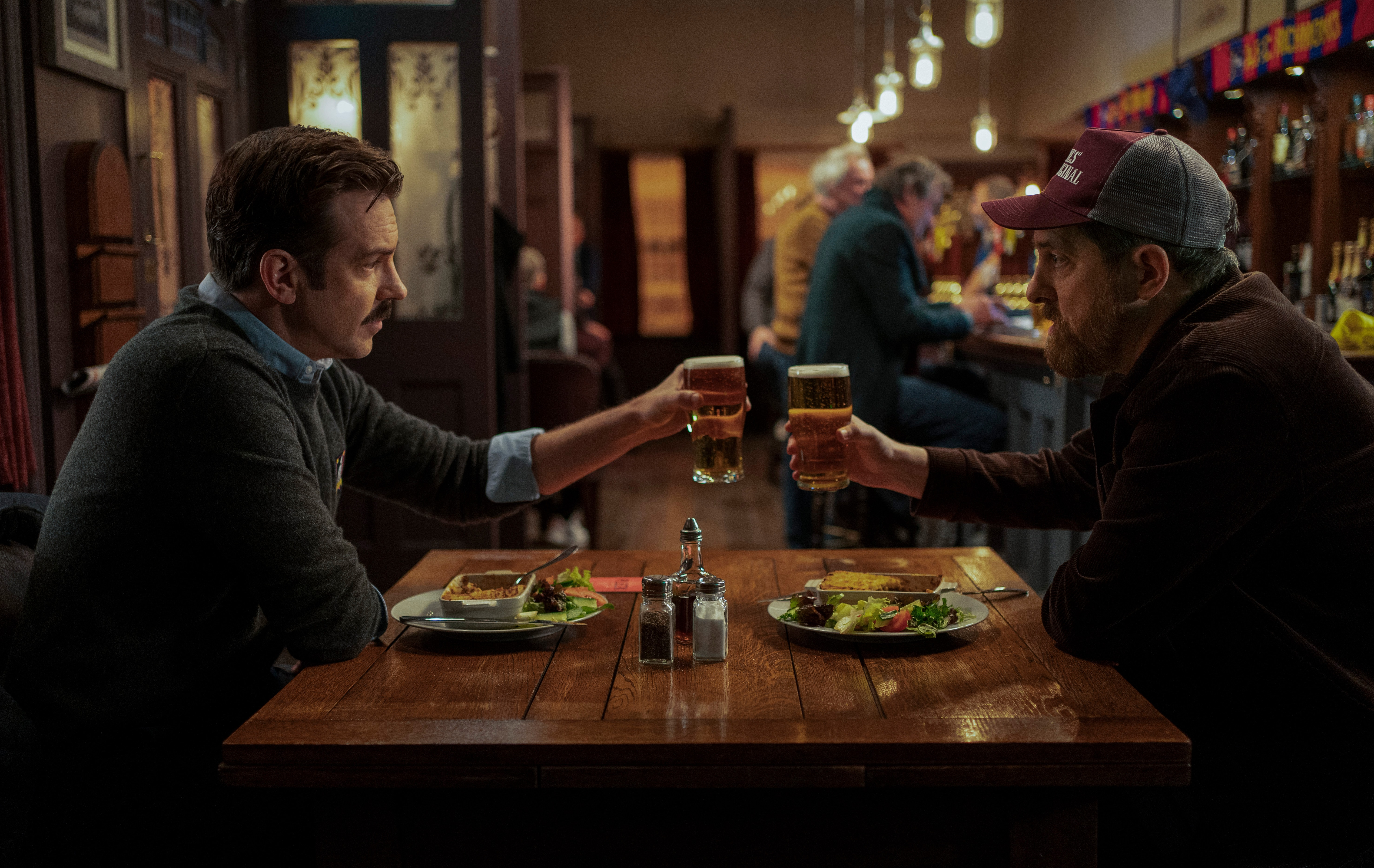Ted Lasso season 2 review: Jason Sudeikis and Brendan Hunt raise a glass to niceness.