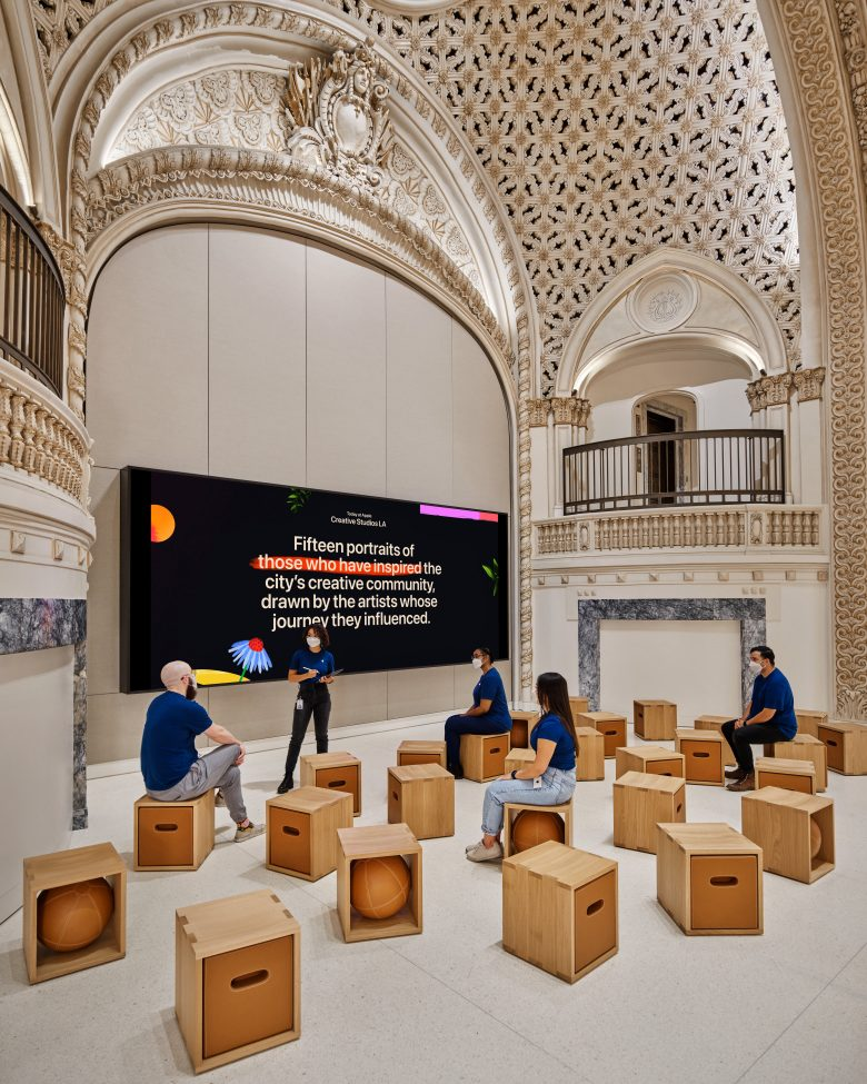 Once again, Apple transforms a historic building into a commercial showcase.