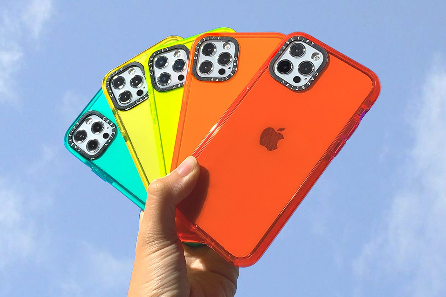 Colorful iPhone cases: The Casetify Color Pop collection comes in vibrant colors.