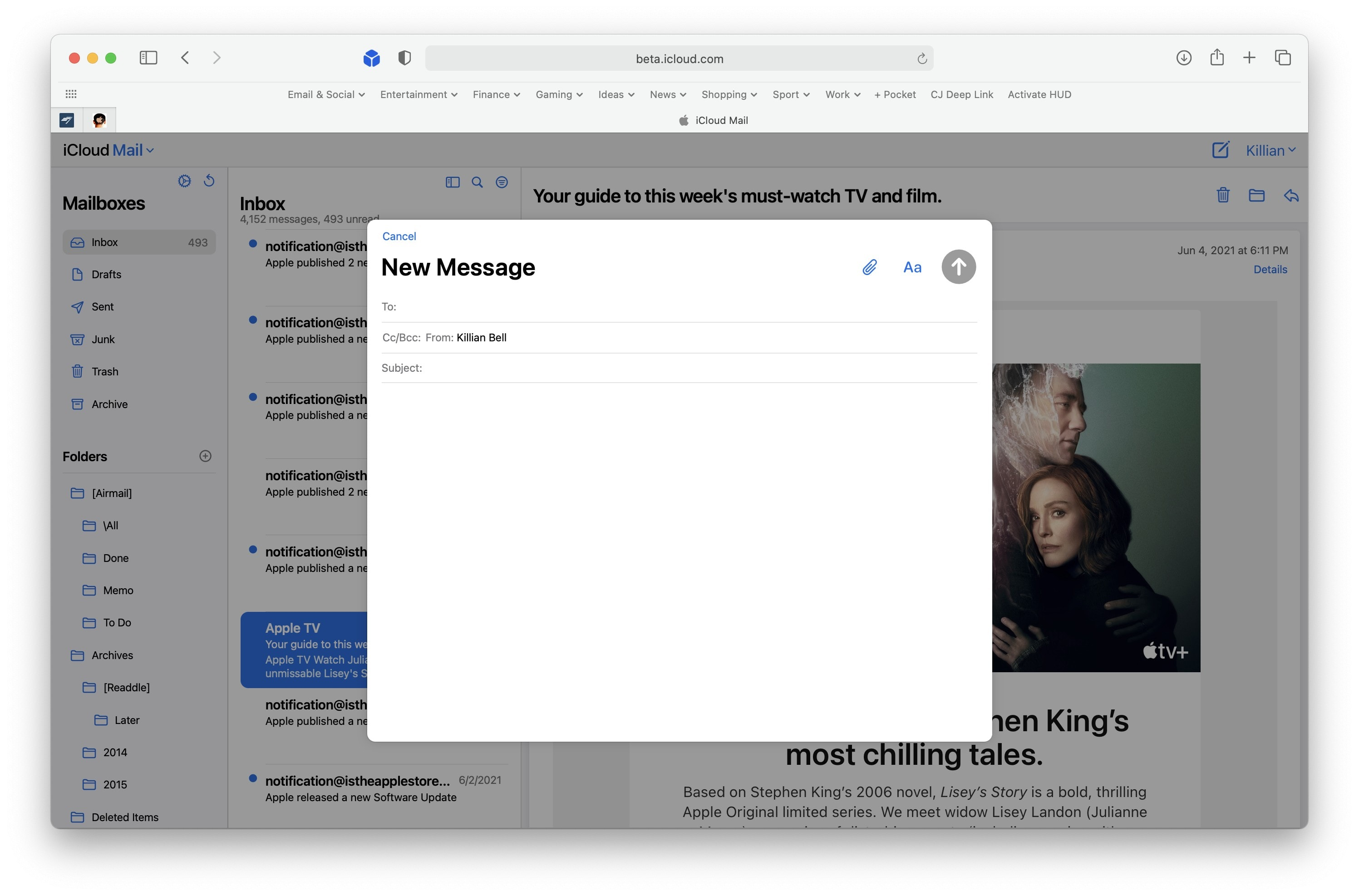 iCloud Mail gets a new look
