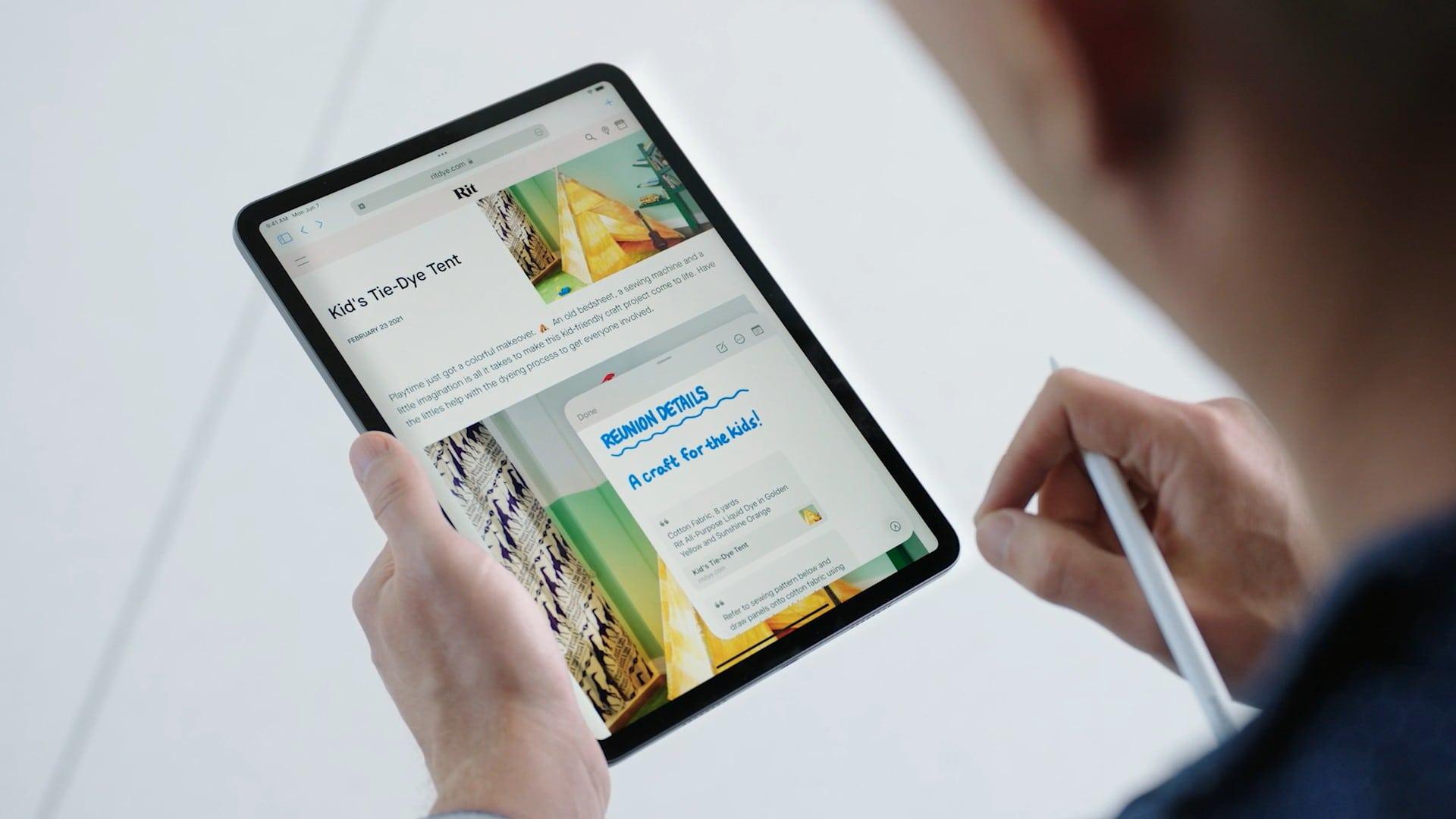 QuickNote in iPadOS 15
