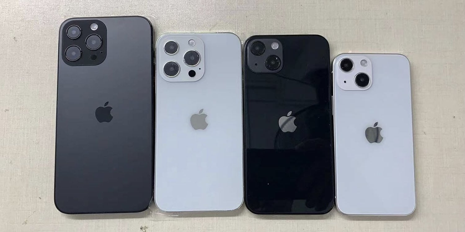 Dickson's dummies show small changes to four possible iPhone 13 models.