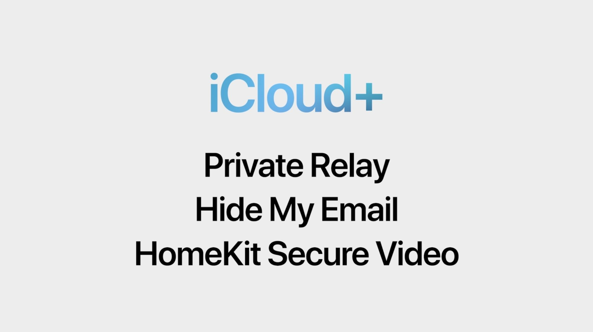 iCloud Plus offers private relay, hide my email, and updates to HomeKit video