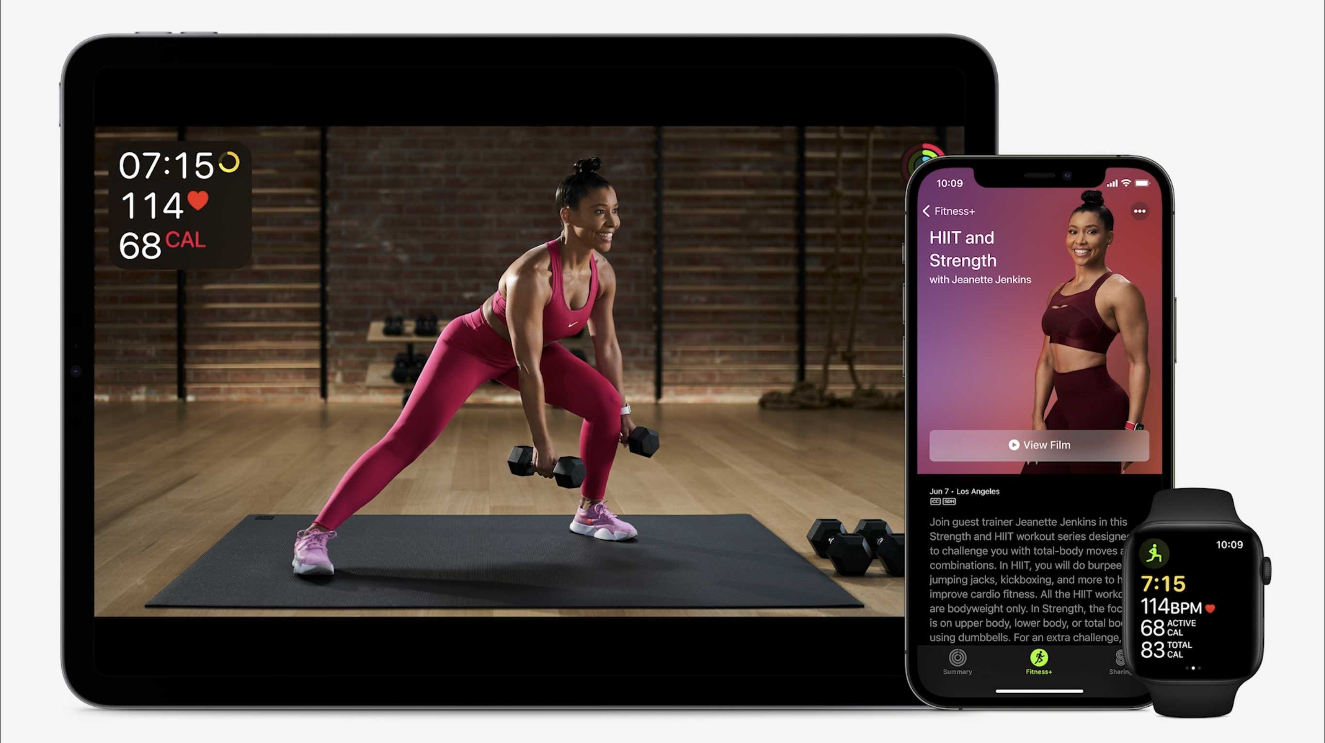Jeanette Jenkins joins the Apple Fitness+ crew.