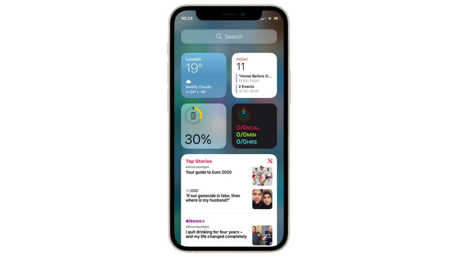 iOS 15 lets devs hide lock screen widgets