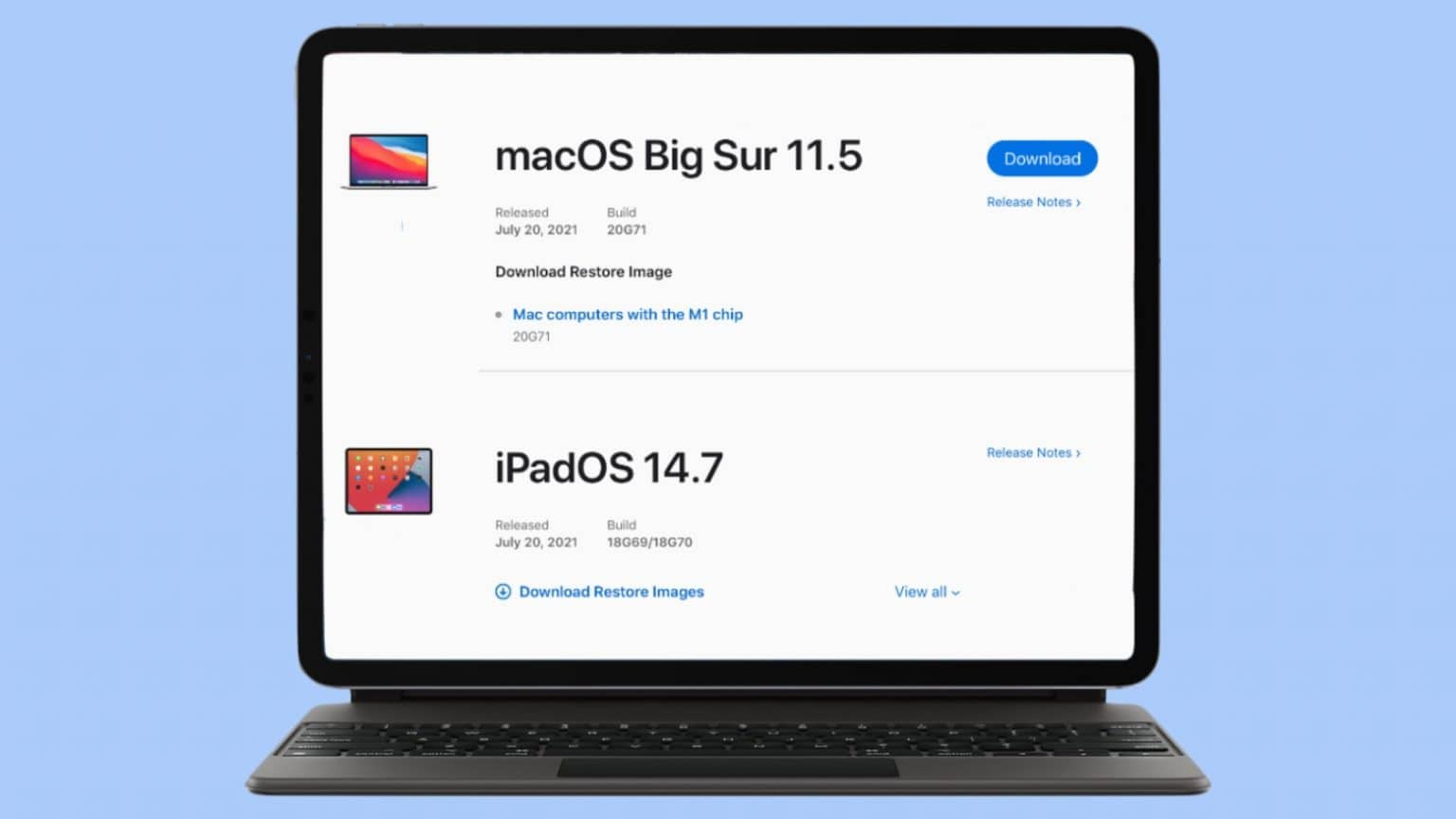 macOS Big Sur 11.5 and iPadOS 14.7 offer small tweaks and bug fixes