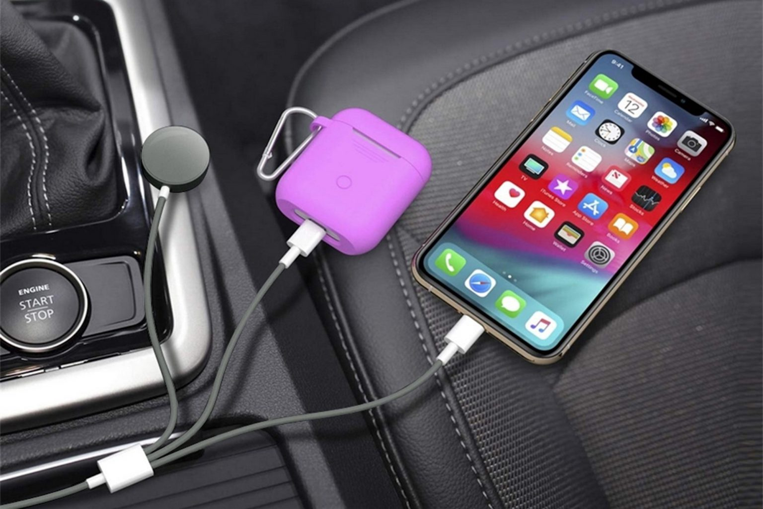 This 3-in-1 Apple Watch & Lightning Charger Cable can charge three devices at once