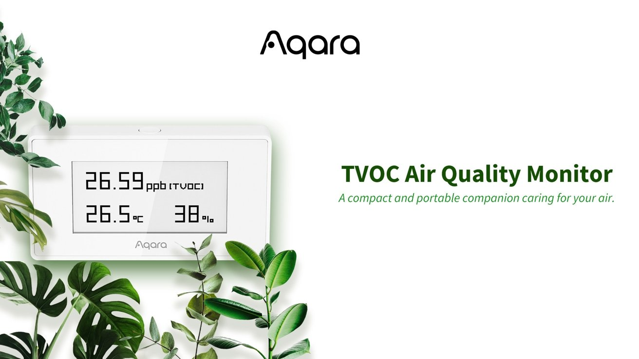 Aqara's new air quality monitor works with HomeKit and other smart home systems.