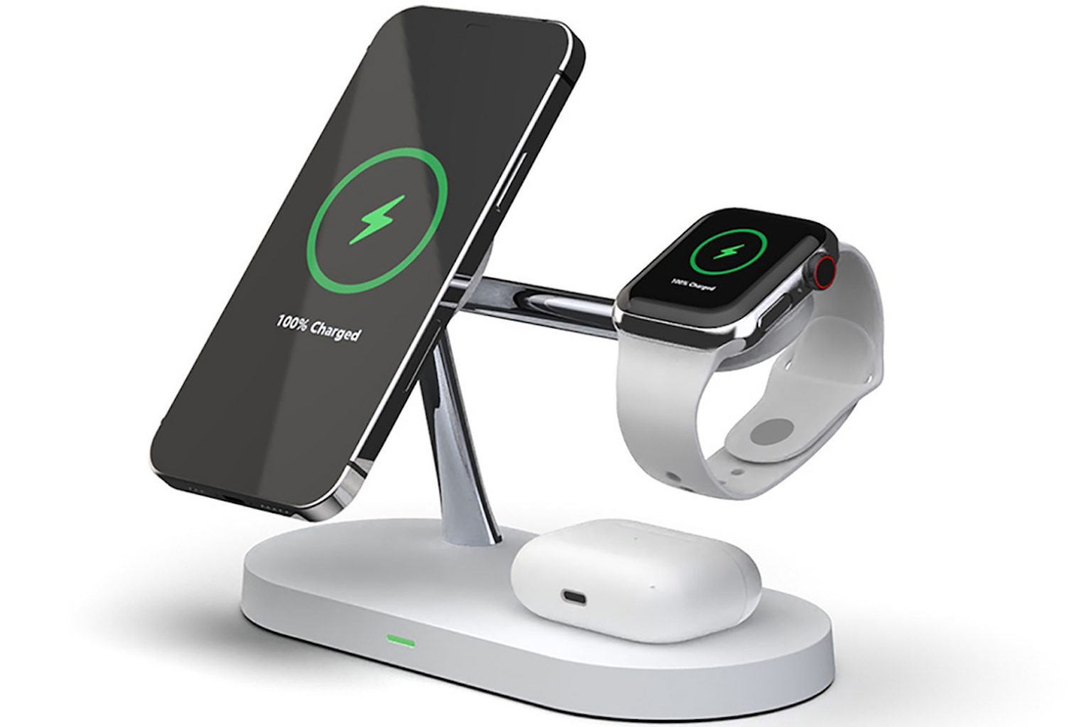 This wireless charger & lamp powers up to 4 devices at once