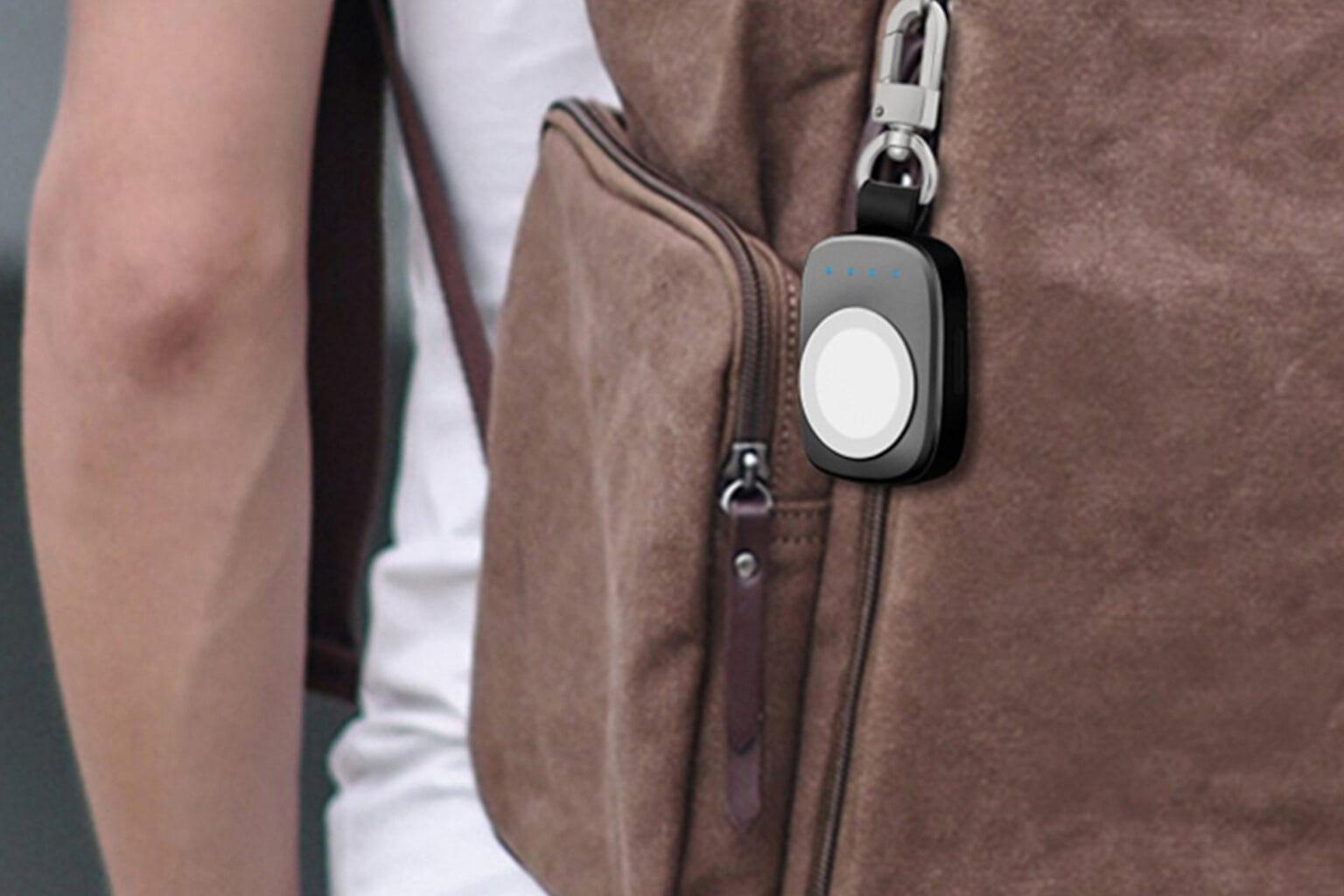 Este cargador de Apple Watch también es un llavero.