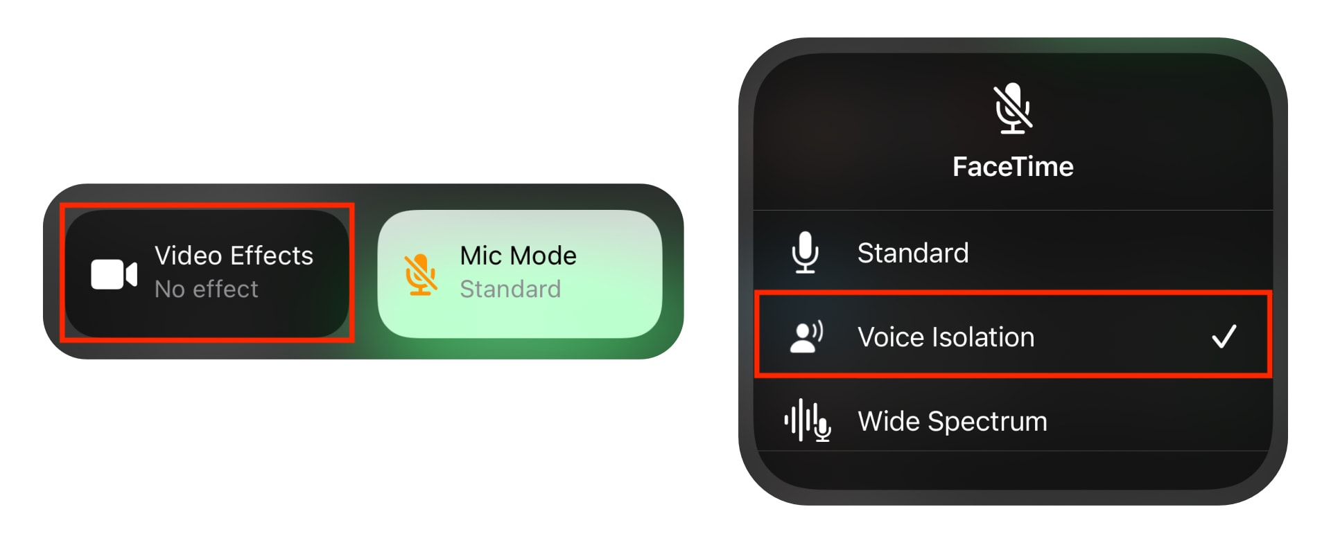 Enable voice isolation for FaceTime
