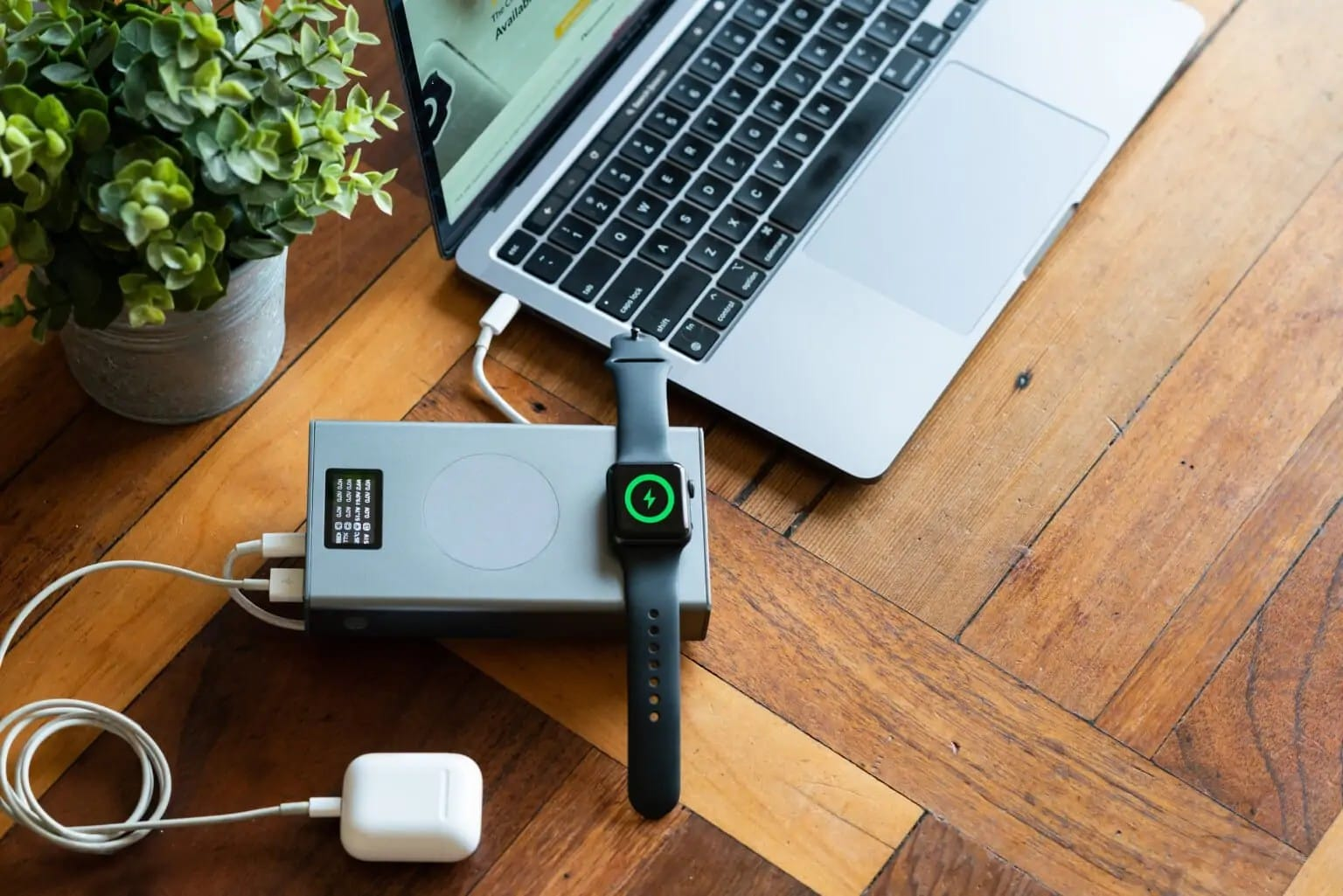 The MagSafe-compatible Flash Pro Plus power bank can charge up to six Apple devices at once.