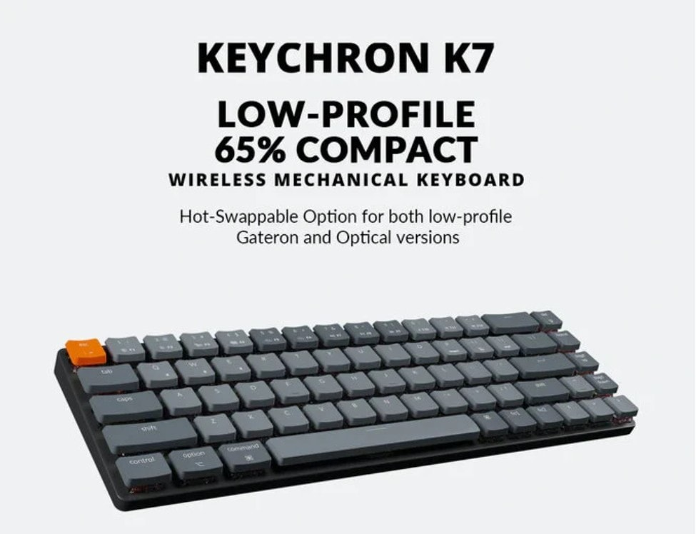 Score the sleek new Keychron K7 via the Kickstarter campaign.
