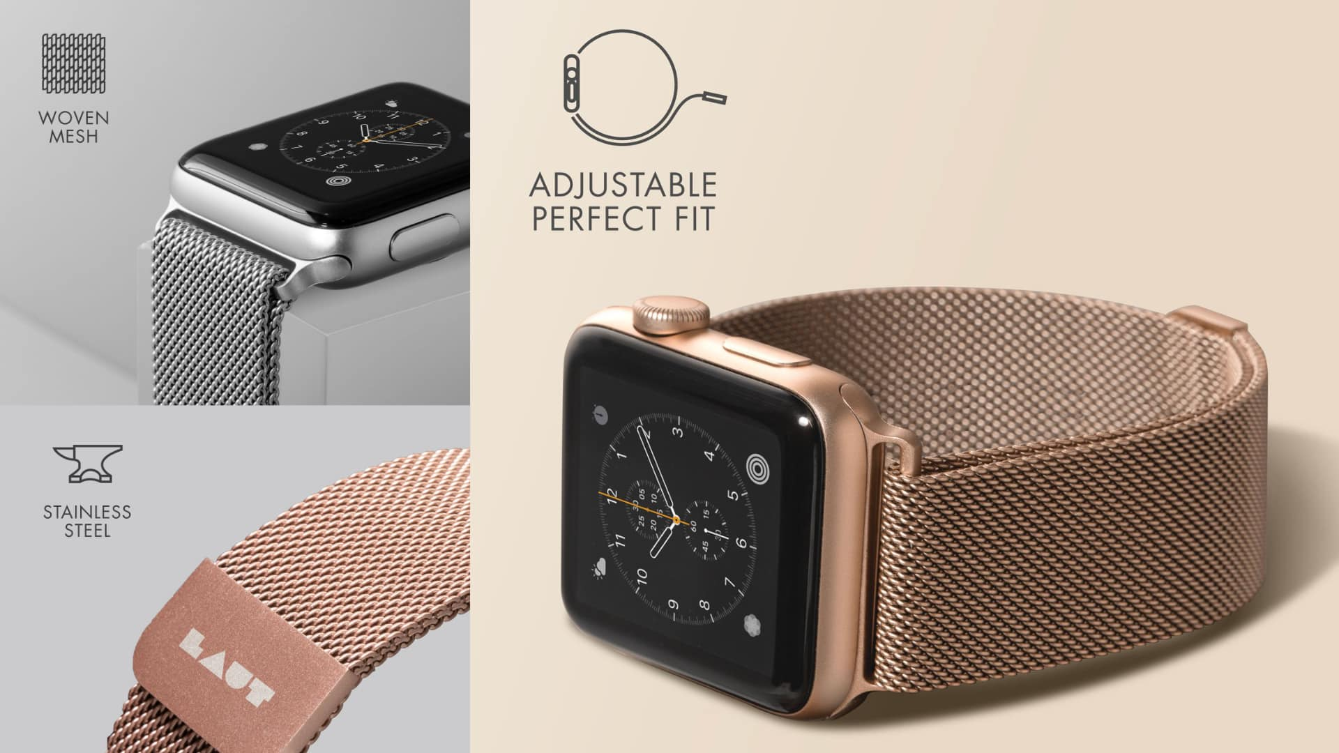Laut Steel Loop for Apple Watch