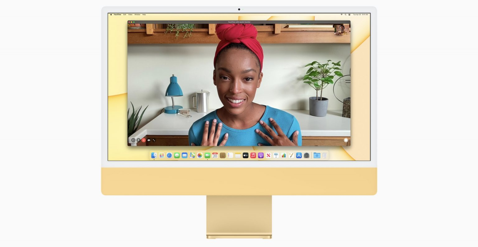 M1 iMac with 1080p camera