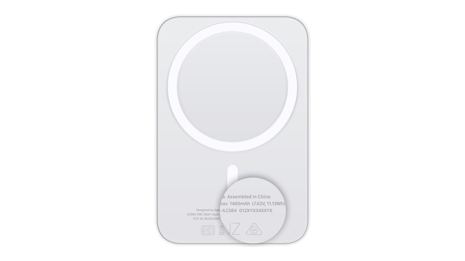Find MagSafe Battery Pack serial number