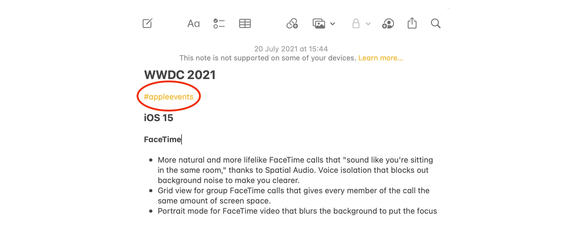 Use Notes in iOS and iPadOS 15 and macOS Monterey