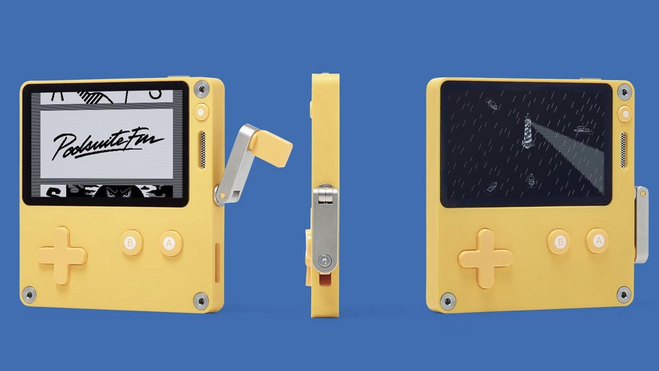 Preorders for the Playdate game console open soon. Note the crank.