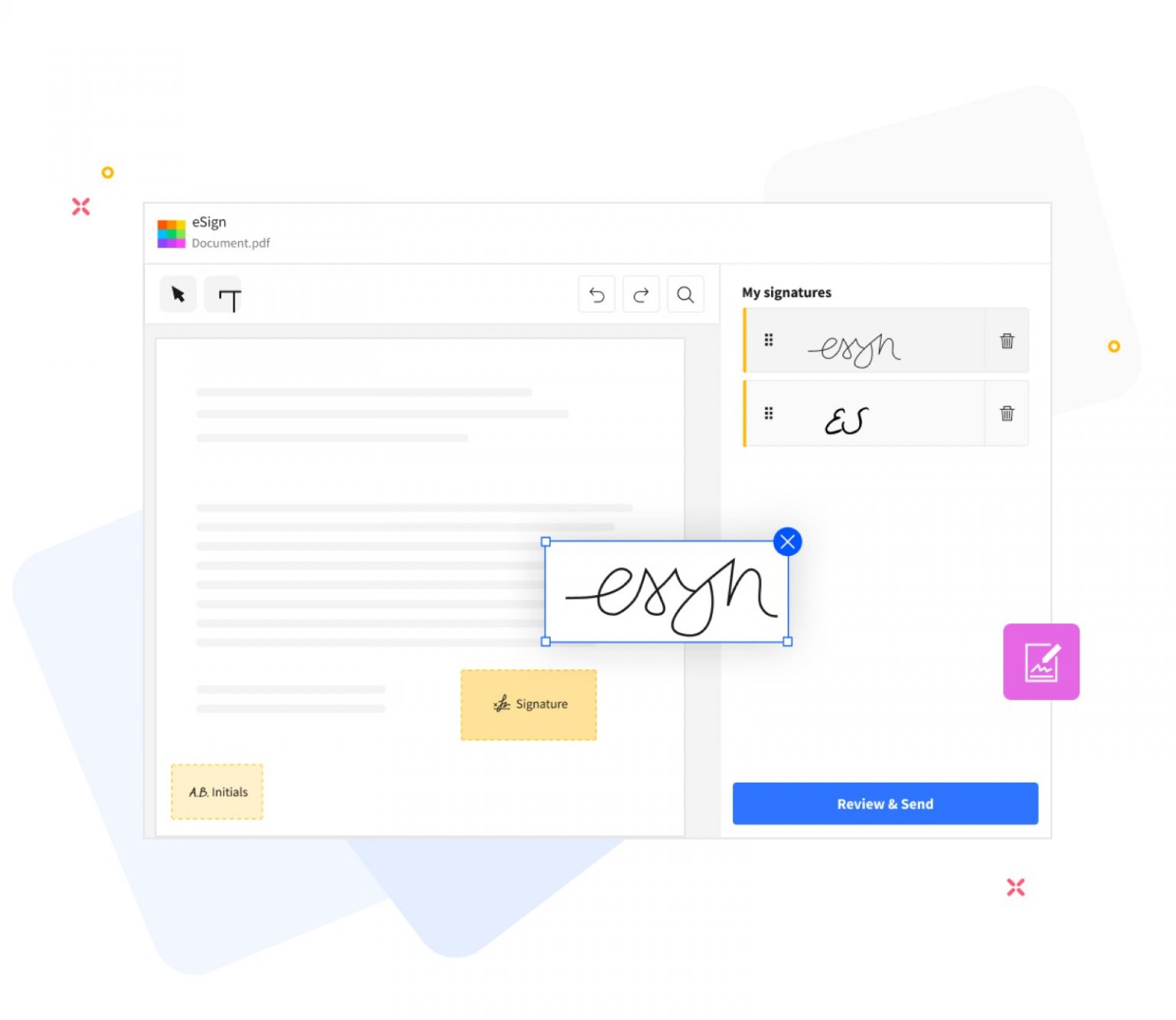Smallpdf's eSign PDF tool helps you sign and save documents.