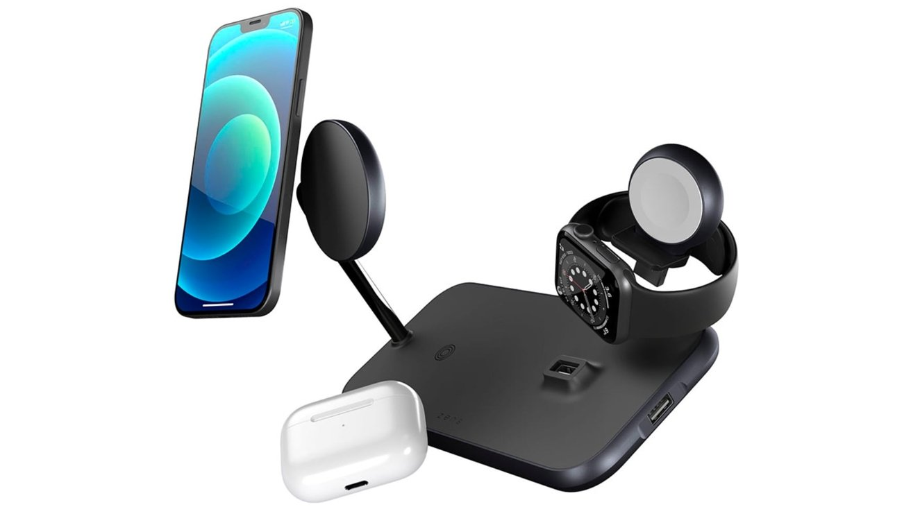 Juice up four devices with the new Zens Magnetic + Watch Wireless Charger.
